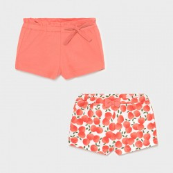 shorts bebe niña MAYORAL set estampado color sorbete