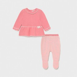 Conjunto bebe niña MAYORAL polaina tricot color smoothie