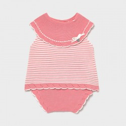 Conjunto bebe niña MAYORAL tricot corto color smoothie