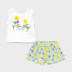 Conjunto bebe niña MAYORAL short estampado color amarillo