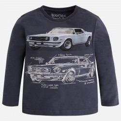 Camiseta niño MAYORAL manga larga coche color azul