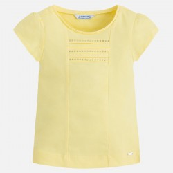 Camiseta niña de Mayoral color citron