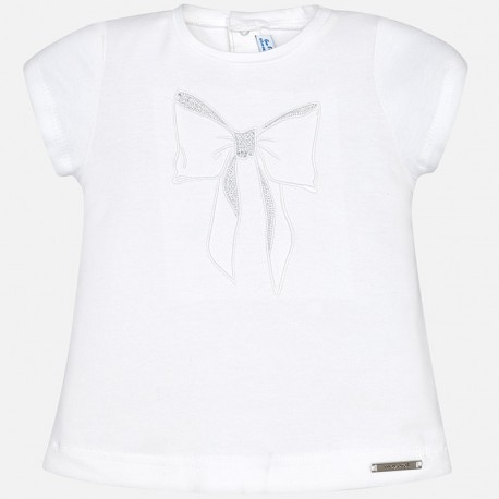 Camiseta bebe niña Mayoral básica en color blanco