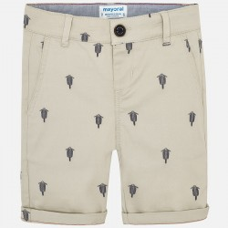 Bermudas niño MAYORAL chino estampado color beige