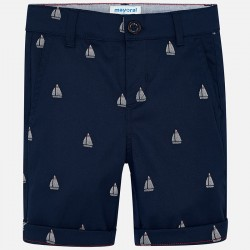 Bermudas niño MAYORAL chino estampado color marino