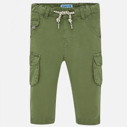 Pantalón bebe niño MAYORAL largo chino cargo color salvia