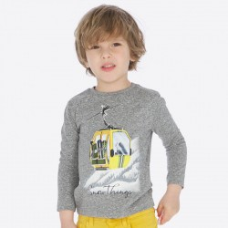 Camiseta niño MAYORAL manga larga nieve color bruma vigoré